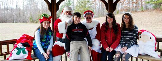 Santa Visits Shelton's Run